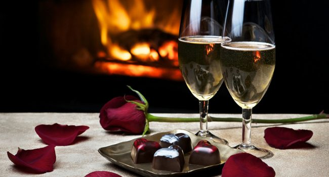 Our romance package includes truffles, sparkling beverages and dinner certificate for two at local fine dining establishments