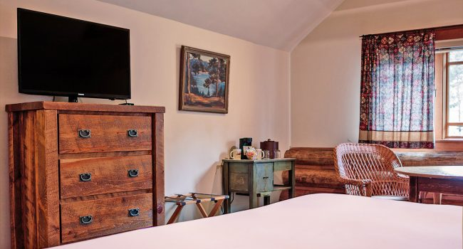 Like Lodge Room #1, all of our lodge rooms feature rustic lodge-style furnishings