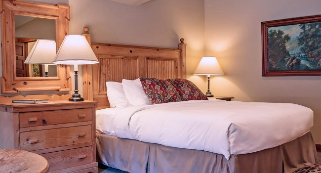 Our Jacuzzi Lodge Room #1 offers a king bed