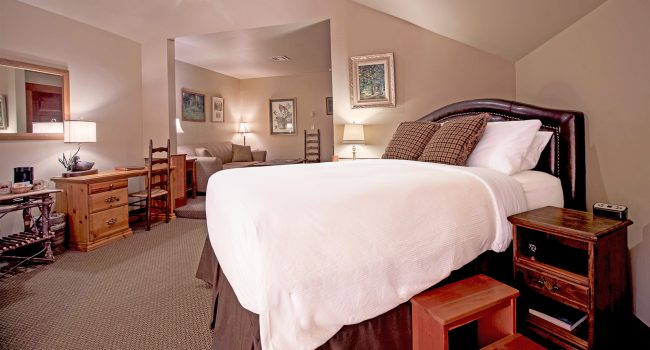 Lodge Room #5 is  spacious and bright