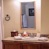 Lodge Rooms #3 & 4 Have very similar full size bathrooms