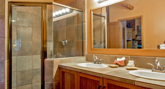 The Jacuzzi Suites feature a very large bathroom