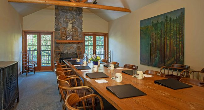 The long table comfortably accommodates 12 seats