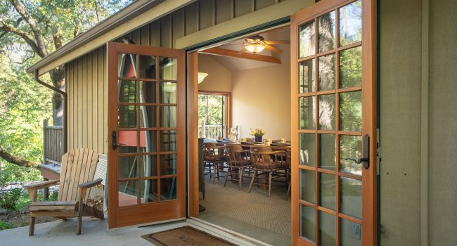 With three sets of french doors, the boardroom is light & bright